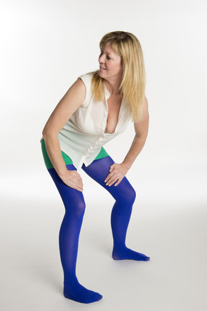 Pantyhose woman blue