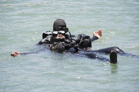 the deep south: Deep sea diver training Gordons Bay South Africa