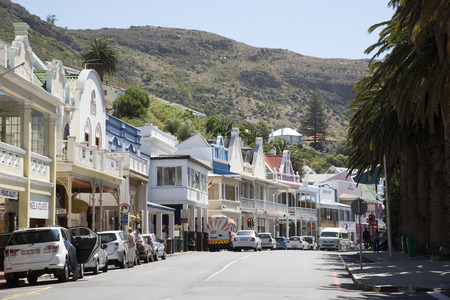 Simonstown main street Western cape South Africa Editorial