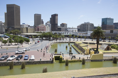 city centre: Cape Town city centre from the Castle of Good Hope Editorial
