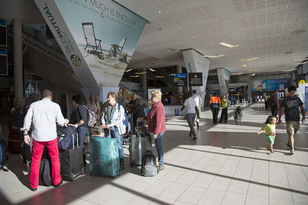 meet and greet: Meet and greet area at Cape Town airport South Africa