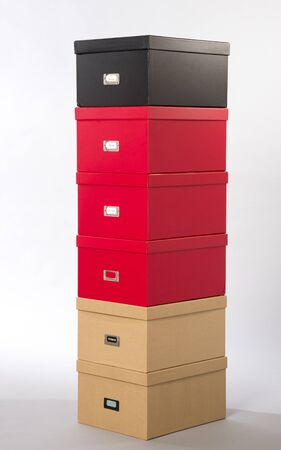 carboard box: Filing boxes in a selection of colours