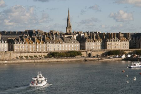 fortify: The walled city and port of Saint Malo Brittany NW France Editorial