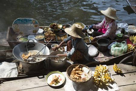 The Damnoen Saduak Floating Market about 60 miles from Bangkok Thailand