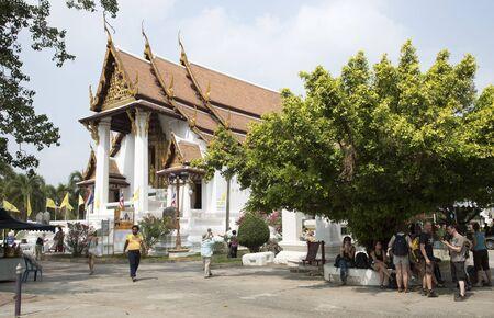 na: Wat Na Phra Mane a historic Thai temple at Ayutthaya Thailand