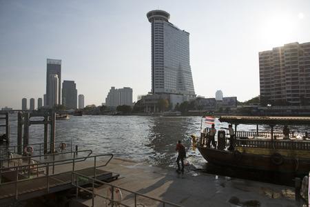 millennium: Millennium Hilton hotel on Chao Phraya river Bangkok Thailand