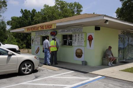 establishment: Roadside cooked to order food establishment at Summerfield Florida USA