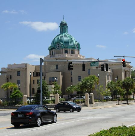 center court: Volusia County Court House in Deland city center central Florida USA