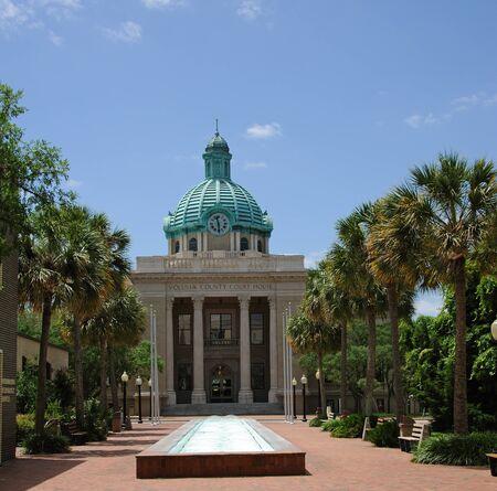 center court: Volusia County Court House in Deland city center central Florida USA