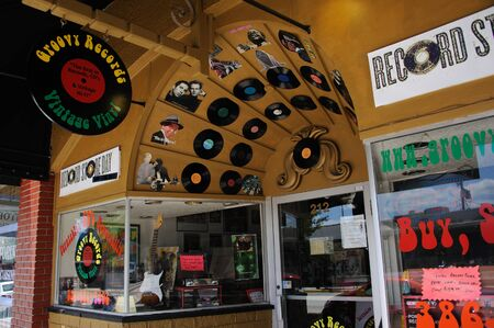 groovy: Groovy Record store on Woodland Blvd in Deland Florida USA