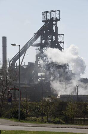 steelworks: Steelworks coke blast furnace Port Talbot South Wales UK Editorial