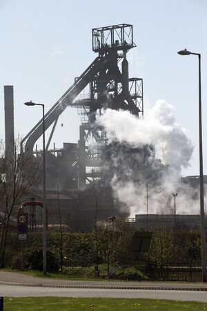 coke: Steelworks coke blast furnace Port Talbot South Wales UK Editorial