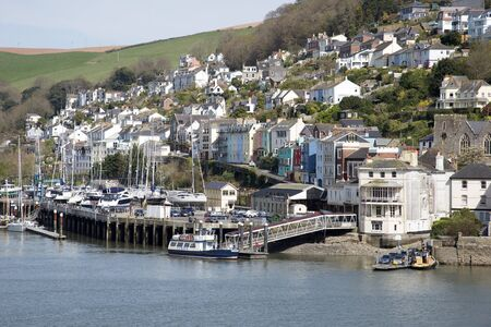 english west country: Kingswear a small Devonshire town overlooks the River Dart Devon England UK