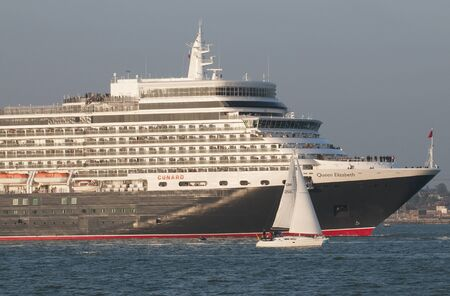 queen elizabeth: Queen Elizabeth on Southampton Water England UK