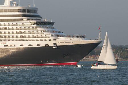 queen elizabeth: Queen Elizabeth on Southampton Water England UK