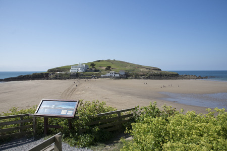 burgh: Burgh Island of the English coast in south Devon England UK