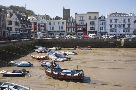english west country: Dart Harbour in Dartmouth Devon at low tide