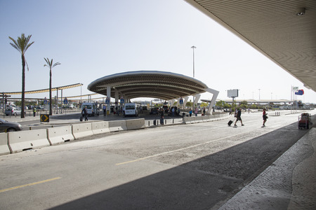 drop off: Airport drop off and collect area Faro Airport Portugal