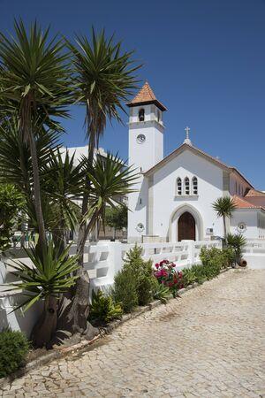 armacao: N.Sra.dos Navegantes Church at Armacao de Pera Portugal Stock Photo