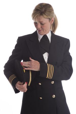Senior airline pilot in uniform