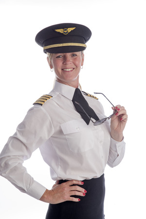 airline pilot: Attractive mid age female airline pilot