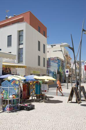 armacao: The coastal Algarve town of Armacao de Pera southern Portugal Tourist shop