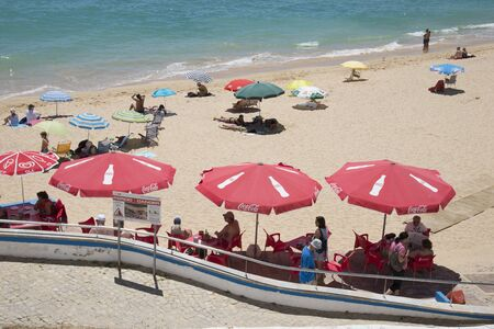 armacao: The beach in the Algarve town of Armacao de Pera southern Portugal Editorial