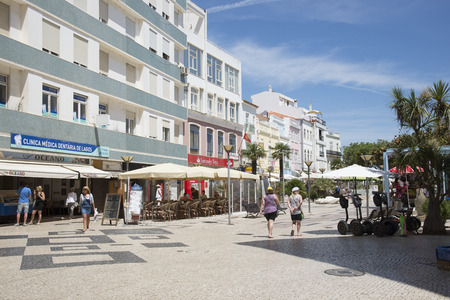 Shopping area town centre of Lagos southern Portugal Editorial