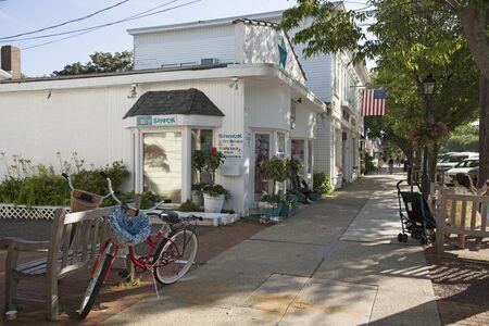 long island: Main street in Westhampton on Long Island USA