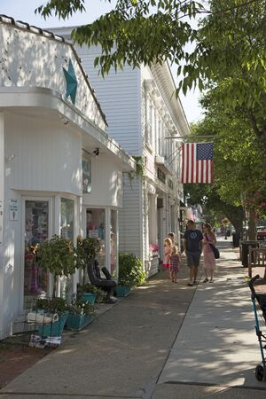Main street in Westhampton on Long Island, USA Sajtókép
