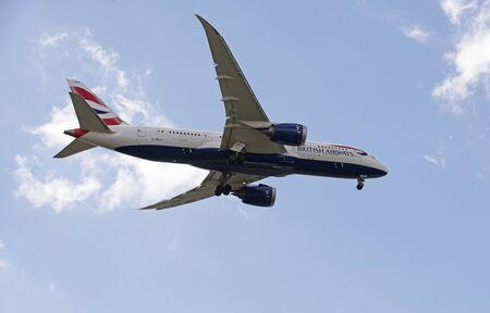 airways: British Airways Boeing 787 passenger jet on final approach to LHR Editorial