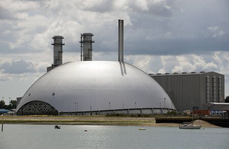 galvanised: Marchwood Power Station and Energy Recovery Facility on Southampton Water UK