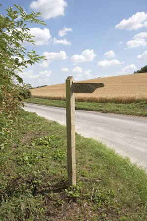 byway: A Byway wooden sign on a country road in southern England UK