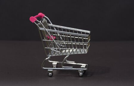 supermarket trolley: A tiny supermarket trolley
