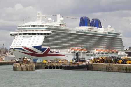 britannia: Cruise ship Britannia on Ocean terminal Southampton southern England UK