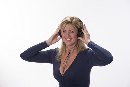 audition: Woman using headphones