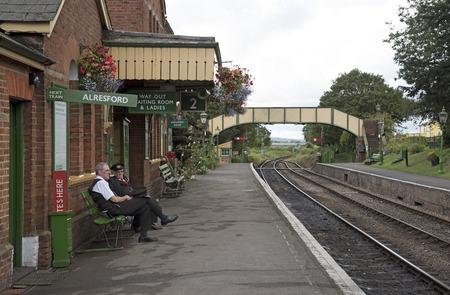 berro: La Línea de berro en Ropley Hampshire Inglaterra Reino Unido