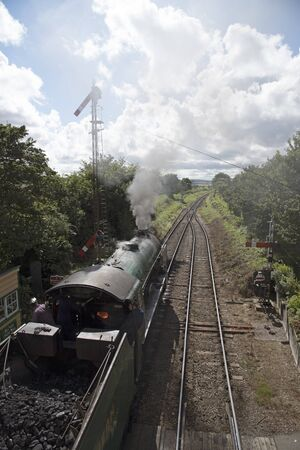 The Cheltenham loco running on the Watercress Line at Ropley Hampshire England UK