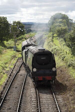 loco: Wadebridge loco on The Watercress Line at Ropley Hampshire England UK