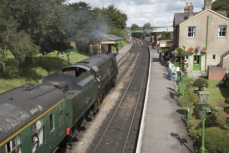 hants: The Watercress Line at Ropley Station Hampshire England UK