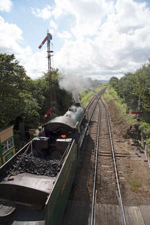 loco: The Cheltenham loco running on the Watercress Line at Ropley Hampshire England UK