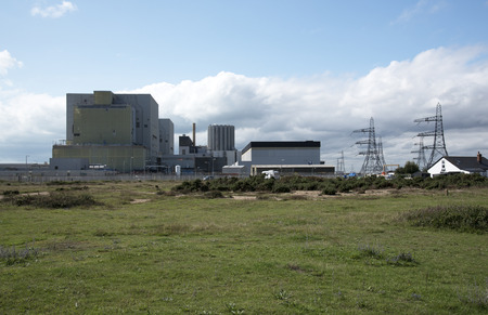 dungeness: Dungeness Nuclear Power stations A and B built on a shingle beach at Dungeness Kent SE England UK