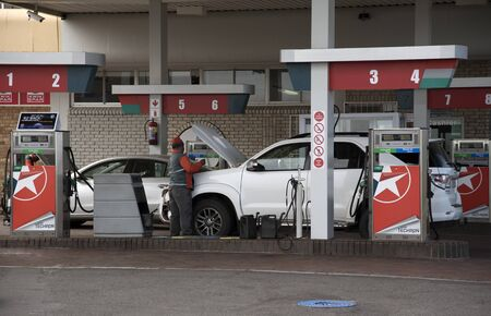 attended: Fuel filling station in the Western Cape region of South Africa Editorial