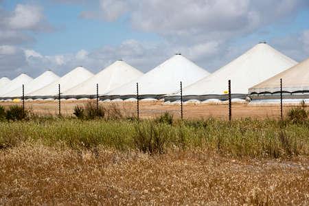 grain storage: Grain storage under canvas at Klipfontein in the Swartland region South Africa