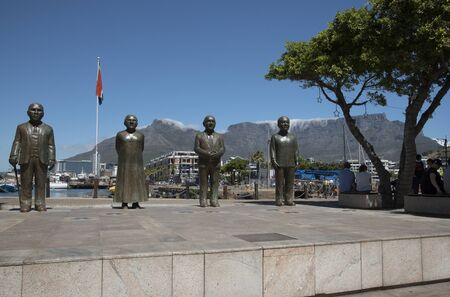 nobel: South African Nobel Peace Prize laureates on Nobel Square Cape Town