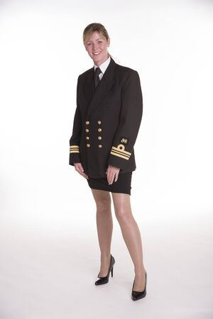 commissioned: Female naval officer in uniform