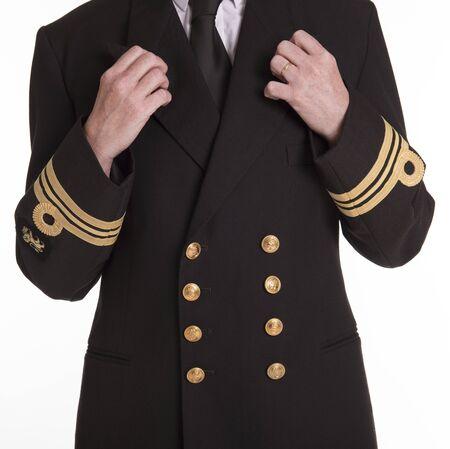 servicewoman: Female naval officer in uniform