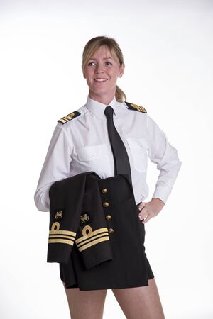 Female naval officer in uniform