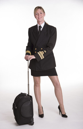 naval: Female naval officer in uniform