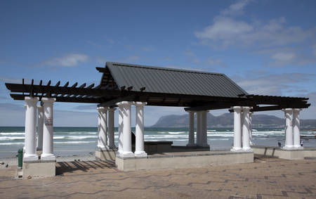 seafronts: Muizenberg seaside resort close to Cape Town South Africa